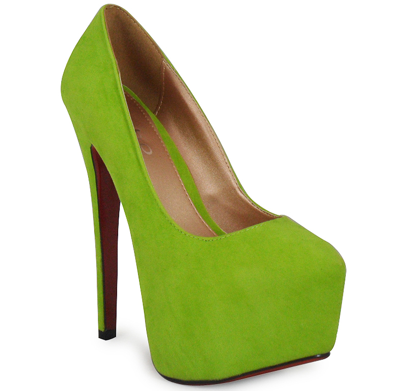 Lime Green Shoes Womens Mid Heel Uk
